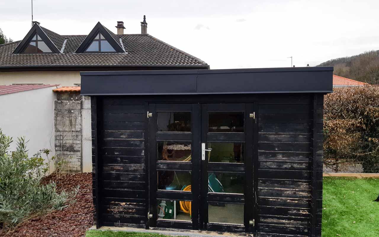 Réfection de la toiture d'un abri de jardin | EURL LISMAT